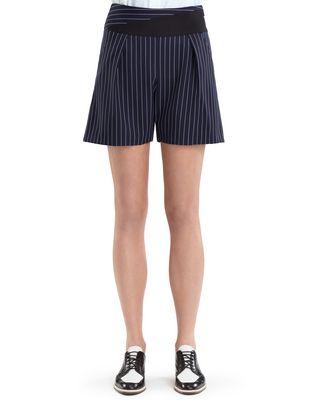 LANVIN PINSTRIPE GABARDINE SHORTS Pants D b