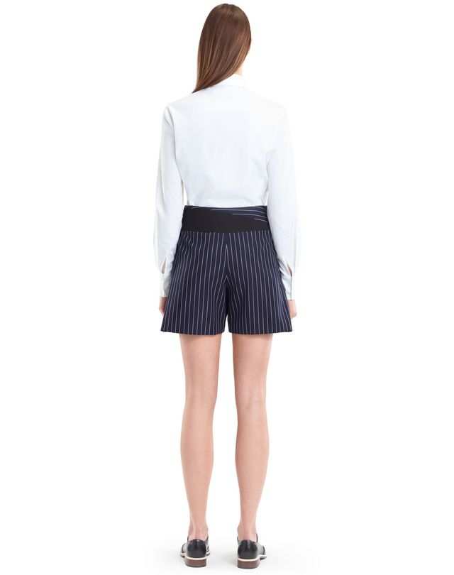 LANVIN PINSTRIPE GABARDINE SHORTS Pants D e