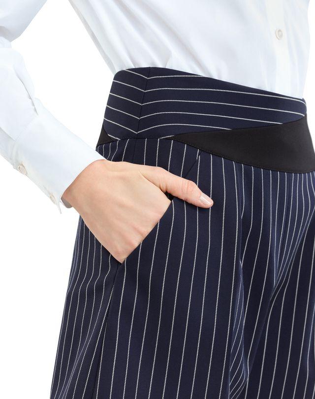 LANVIN PINSTRIPE GABARDINE SHORTS Pants D r
