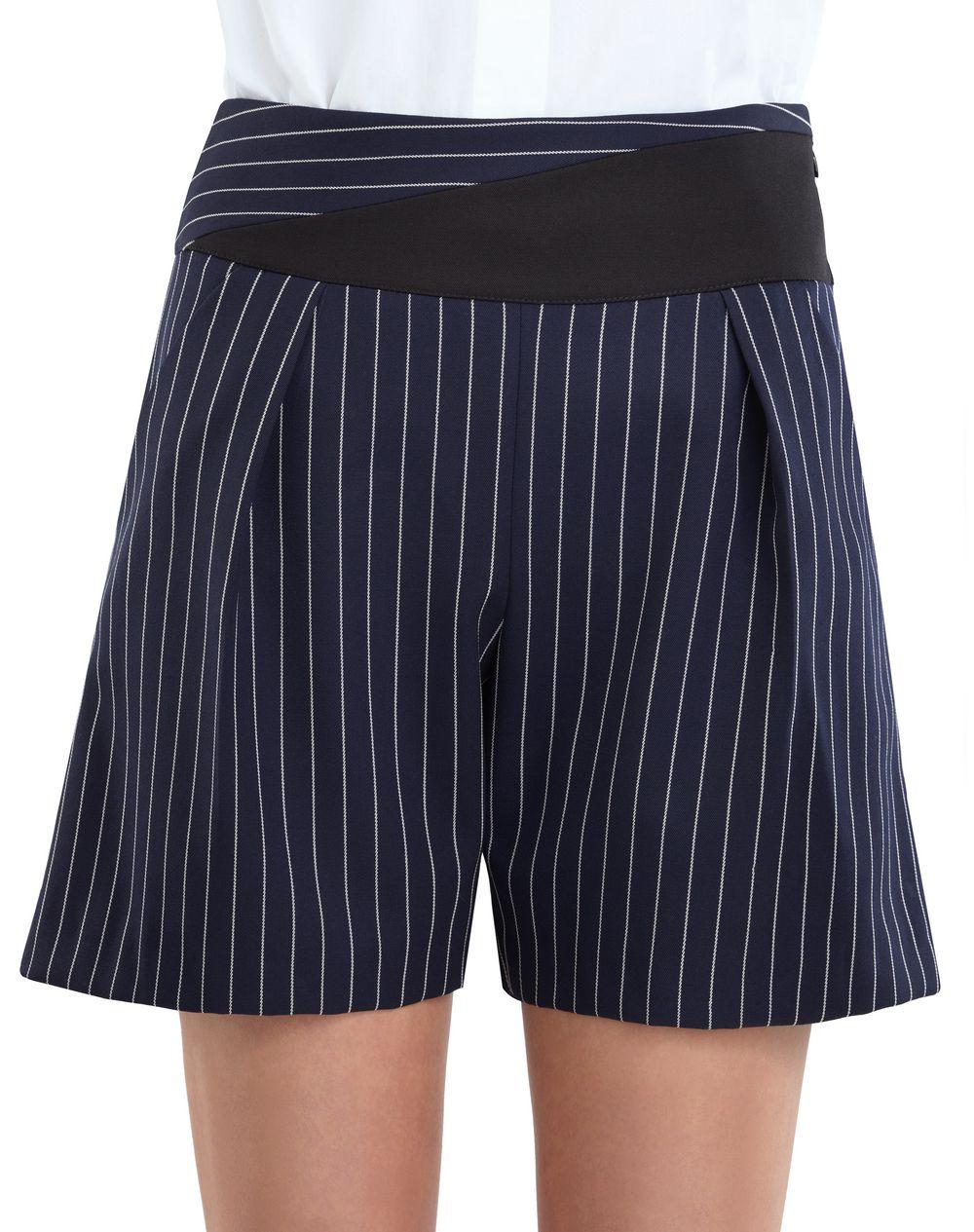 细条纹华达呢短裤 - Lanvin