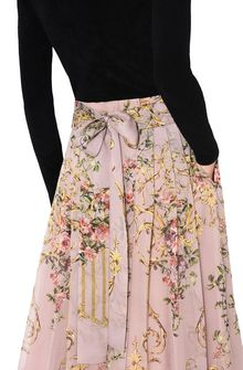 ALBERTA FERRETTI PALACE PINK SKIRT GONNA D a