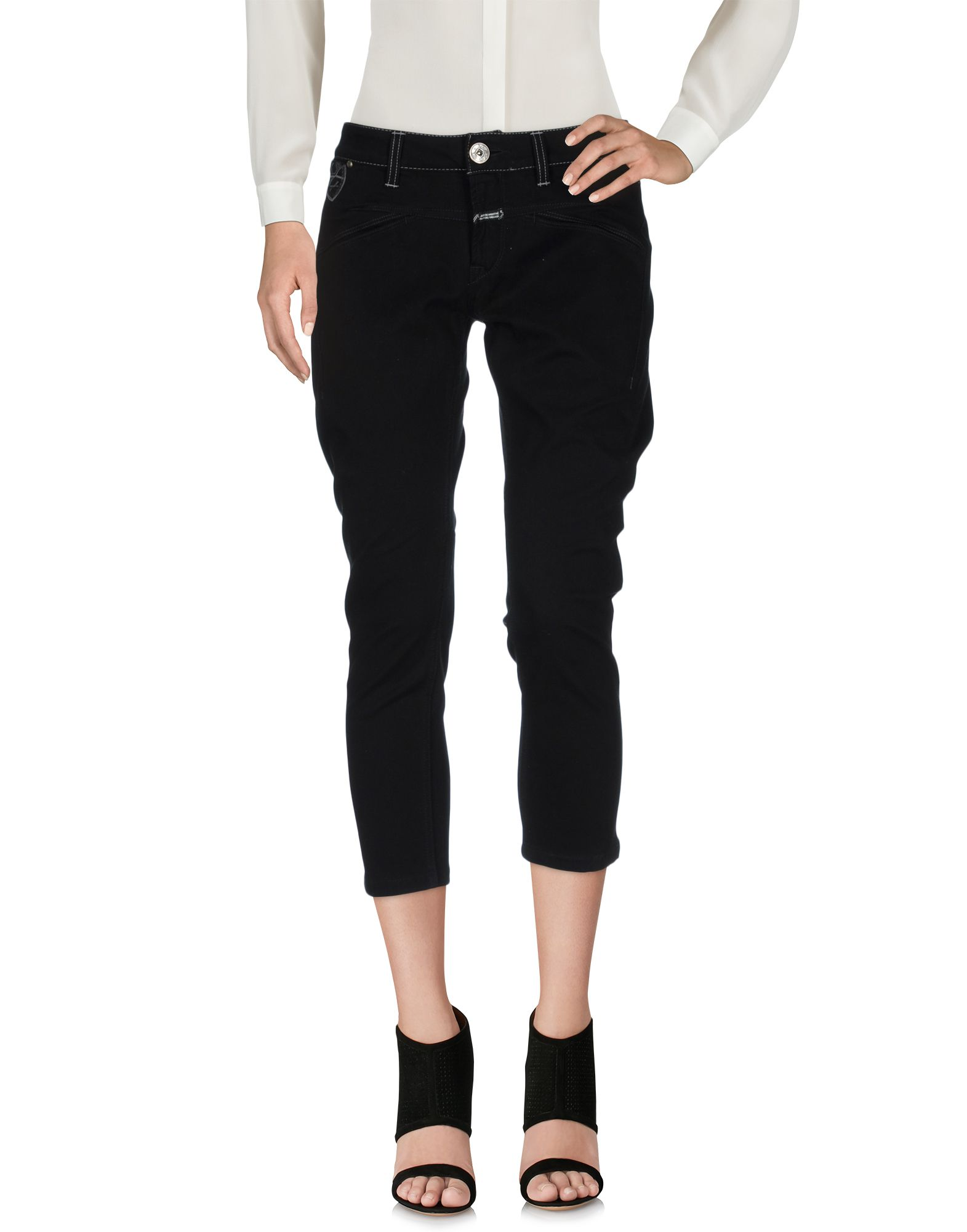 LE JEAN DE MARITHÉ + FRANÇOIS GIRBAUD Брюки-капри le jean de marithé françois girbaud джинсовая юбка