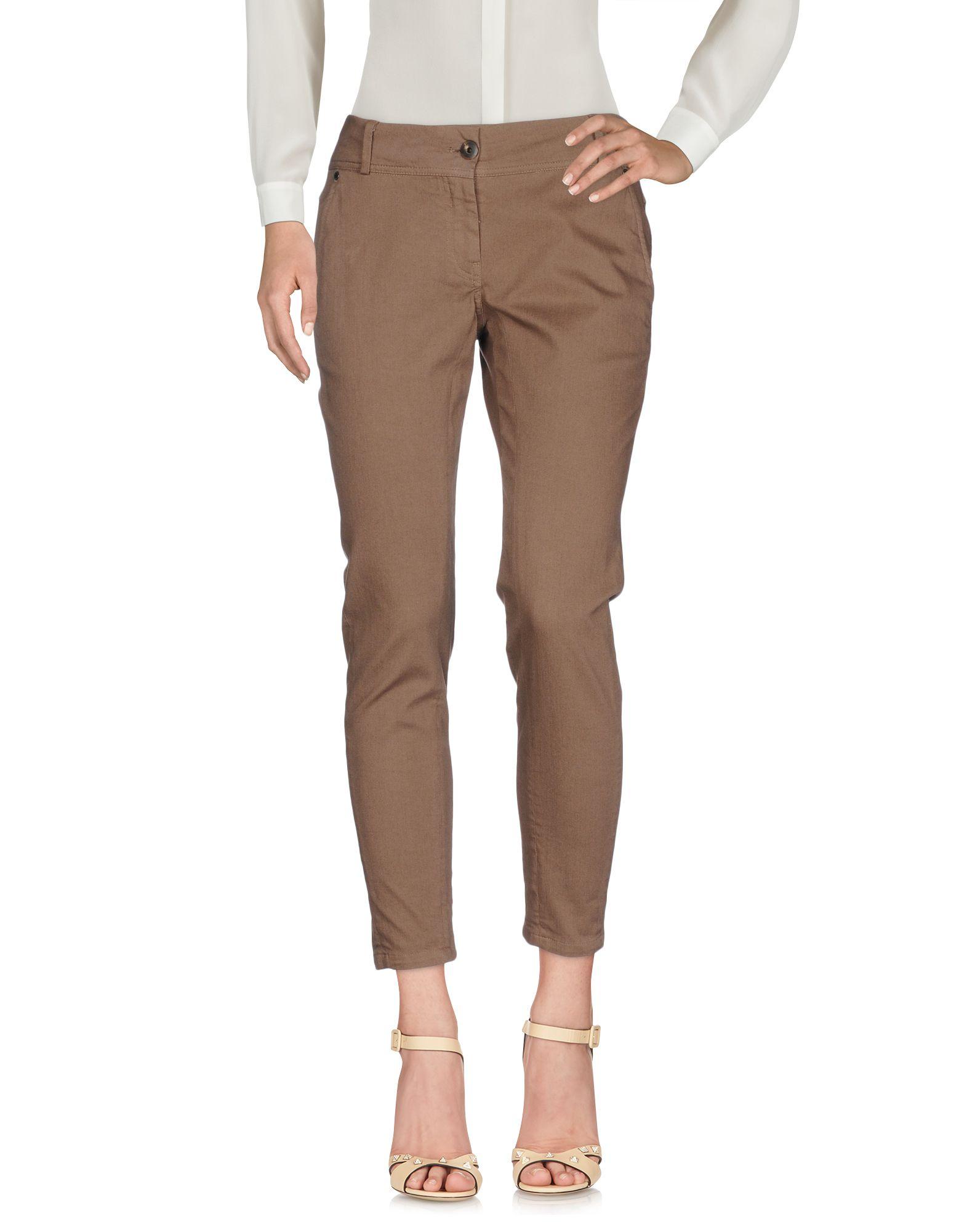BRUNELLO CUCINELLI Damen Hose Farbe Braun Größe 4 jetztbilligerkaufen