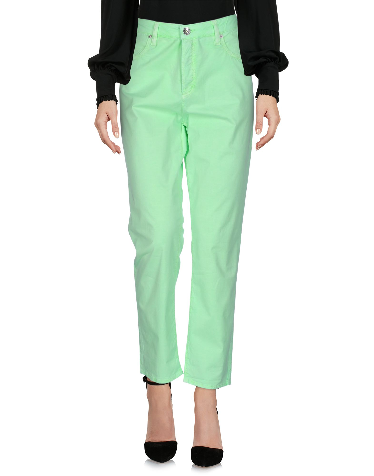LOVE MOSCHINO Damen Hose Farbe Säuregrün Größe 5 jetztbilligerkaufen