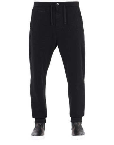 30101 ADJUSTABLE LEISURE TROUSERS WITH DROP POCKET AND ARTICULATION TUNNELS (DUAL COMPOSITE JERSEY) SINGLE LAYER FABRIC - GARMENT DYED