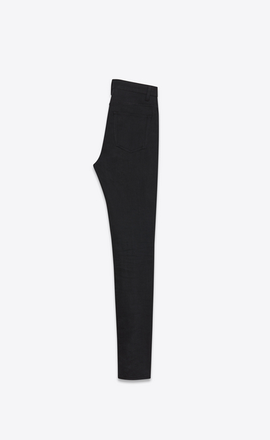SAINT LAURENT Skinny fit Woman Black high-waist skinny jeans in stretch denim with slightly worn effect  b_V4
