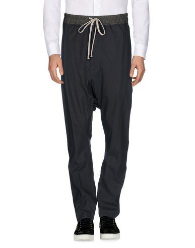 RICK OWENS Pantalon homme. toile, sans applications, uni, taille haute, comfort fit, jambes droites, fermeture avec coulisse, multipoches, pantalon, t
