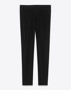 SAINT LAURENT Classic Pant D Low-waist pleated pants in black velvet f