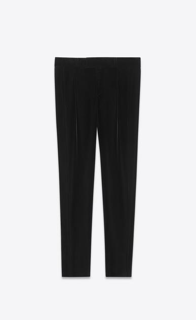 SAINT LAURENT Classic Pant D Low-waist pleated pants in black velvet v4