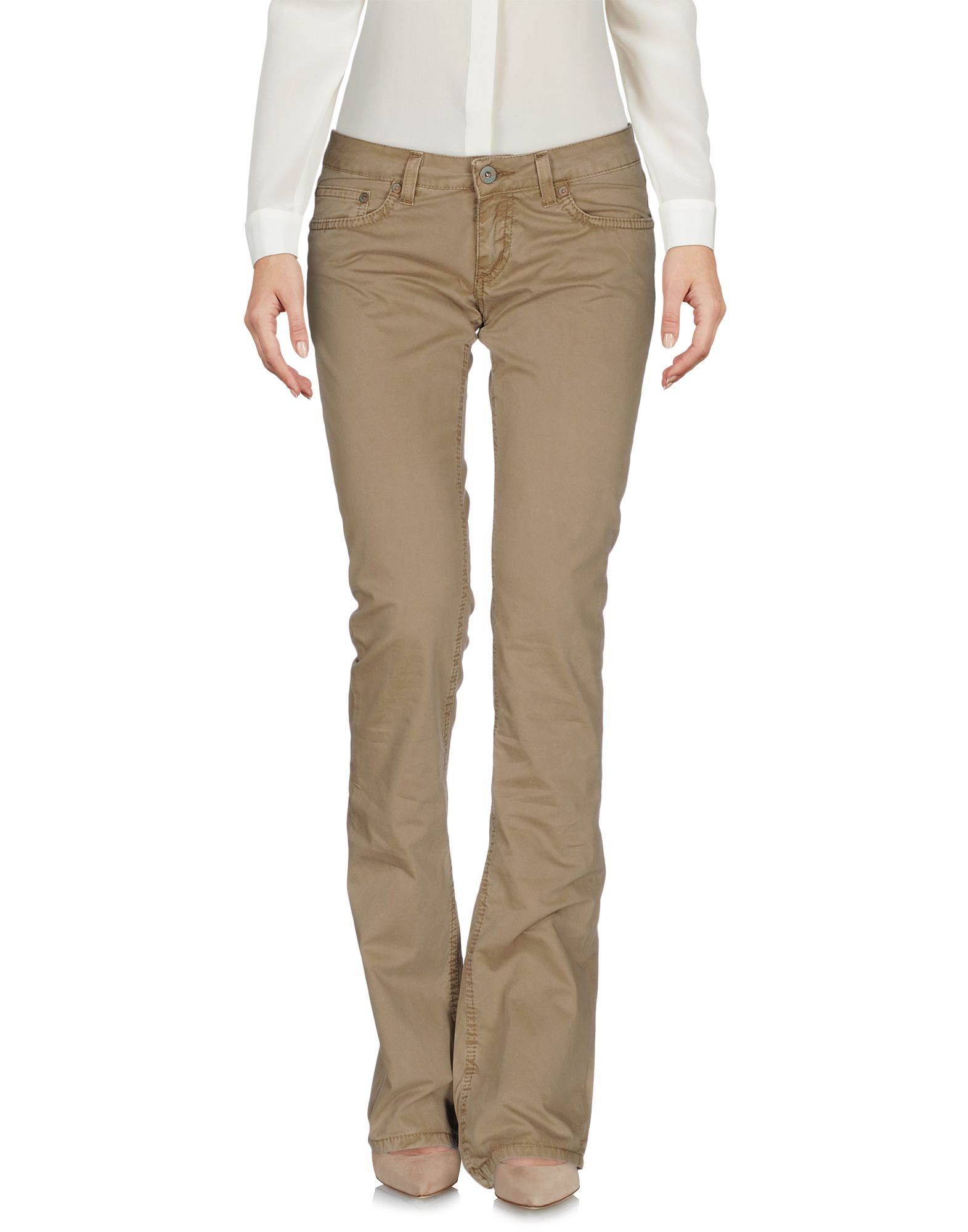DONDUP STANDART Damen Hose Farbe Khaki Größe 4 - broschei