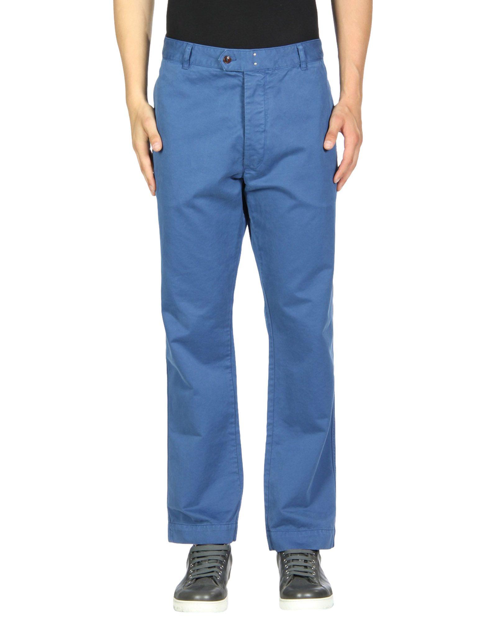 《期間限定 セール開催中》OFFICINE G?N?RALE Paris 6? メンズ パンツ ブルー 30 コットン 100%