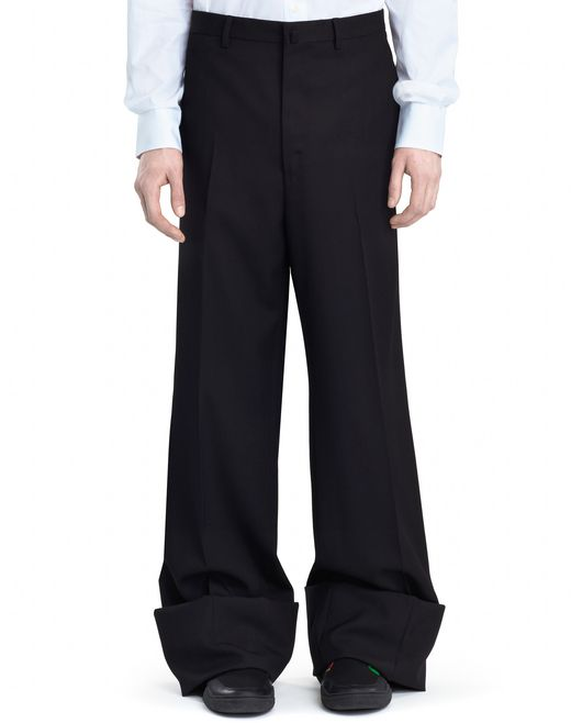 lanvin oversized pants men
