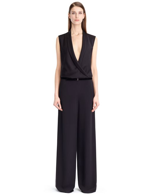SATIN SABLE SUIT - Lanvin