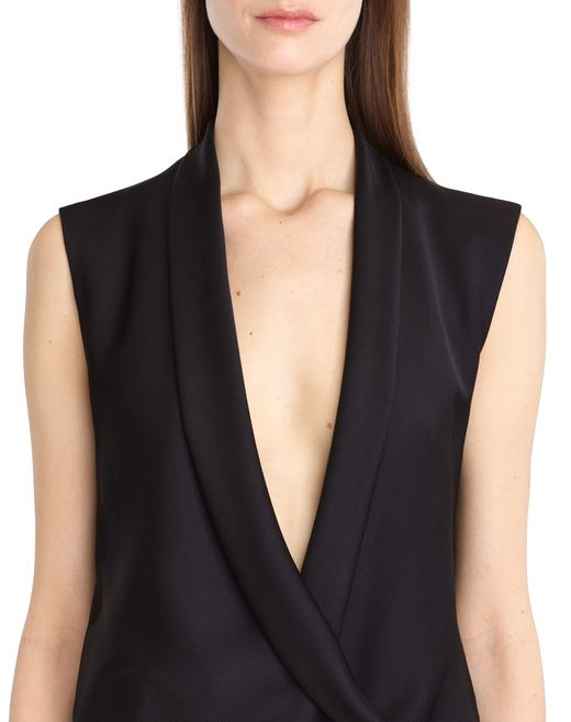 lanvin satin sable suit women