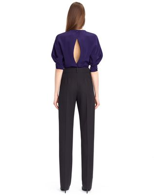 LANVIN WOOL GABARDINE PANTS Trousers D d