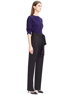 LANVIN WOOL GABARDINE PANTS Trousers D e