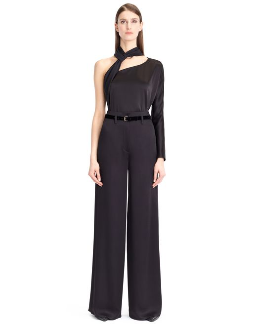 lanvin satin sable pants women