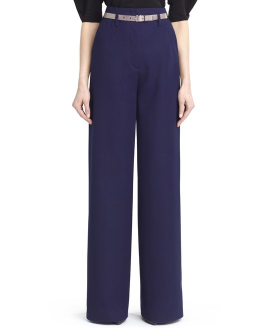 lanvin hammered crepe pants women