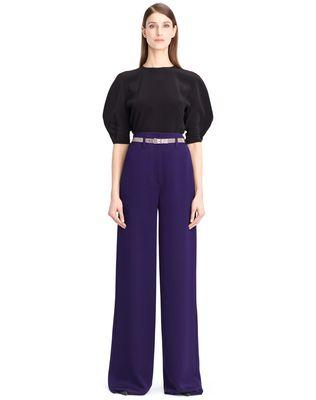 LANVIN HAMMERED CREPE PANTS Pants D f
