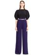 LANVIN Pants Woman HAMMERED CREPE PANTS f