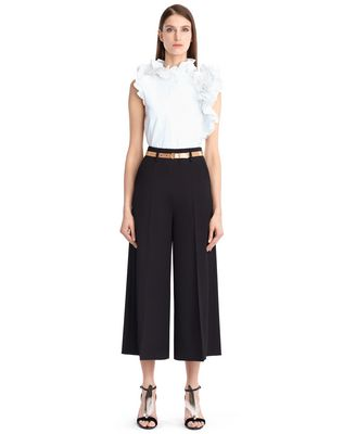 LANVIN Pants D HAMMERED CREPE PANTS F