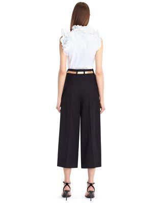 LANVIN WOOL GABARDINE CULOTTES Pants D d