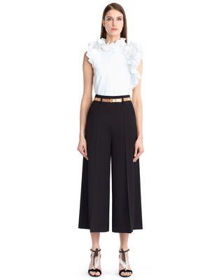 LANVIN WOOL GABARDINE CULOTTES Pants D f