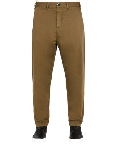 30409 ADJUSTABLE WIDE TROUSERS WITH ARTICULATION TUNNELS (STRETCH COTTON WOOL SATIN) GARMENT DYED