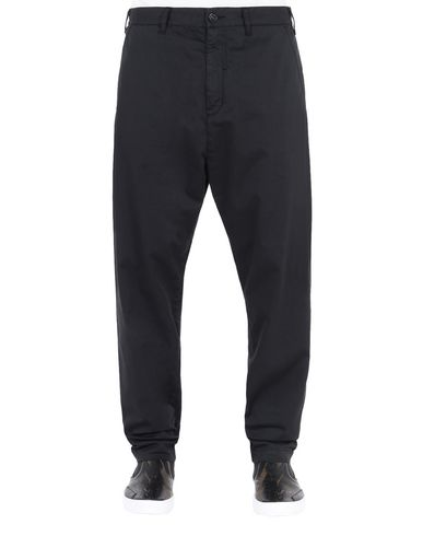 30409 ADJUSTABLE WIDE PANTS WITH ARTICULATION TUNNELS (STRETCH COTTON WOOL SATIN) GARMENT DYED