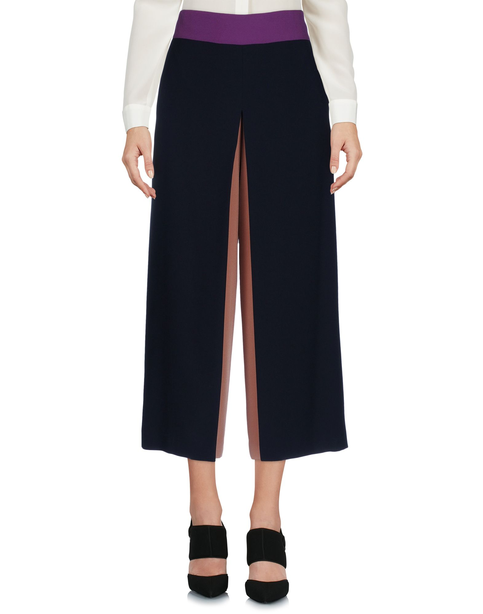 LORENZA PAMBIANCO Cropped Pants & Culottes in Dark Blue