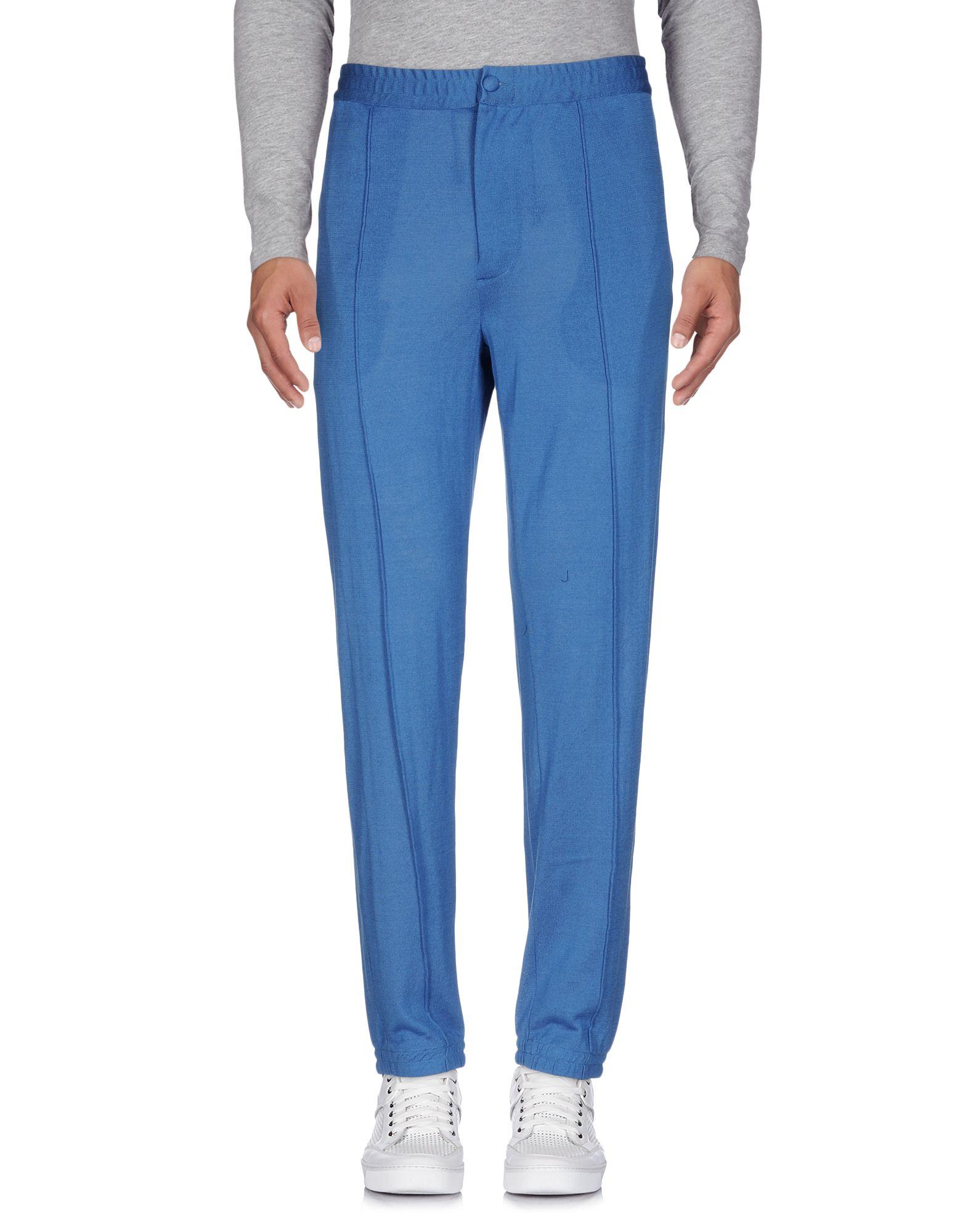 《送料無料》EMILIANO RINALDI メンズ パンツ ブルー 50 コットン 100%
