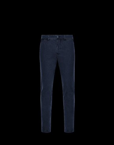 CASUAL PANTS Dark blue Pants