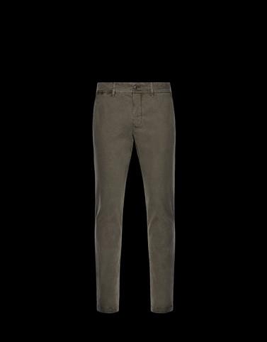 CASUAL TROUSER Military green Category Casual trousers Man