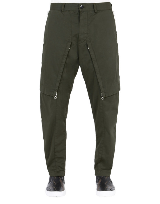 TROUSERS 30209 CONVERT PANTS (STRETCH COTTON WOOL SATIN) GARMENT DYED STONE ISLAND SHADOW PROJECT - 0