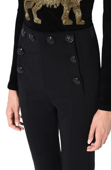 ALBERTA FERRETTI High-waisted nautical trousers TROUSERS D a