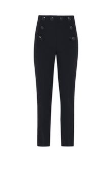 ALBERTA FERRETTI High-waisted nautical trousers TROUSERS D e