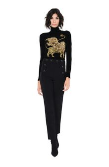 ALBERTA FERRETTI High-waisted nautical trousers TROUSERS D f