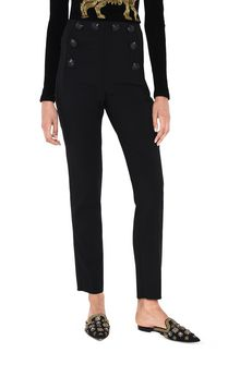 ALBERTA FERRETTI High-waisted nautical trousers TROUSERS D r