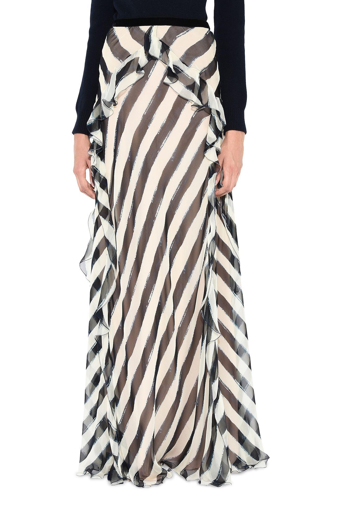 ALBERTA FERRETTI Blouse D Striped blouse r
