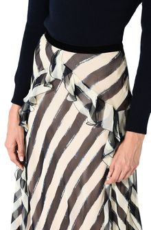 ALBERTA FERRETTI Long striped skirt SKIRT Woman a