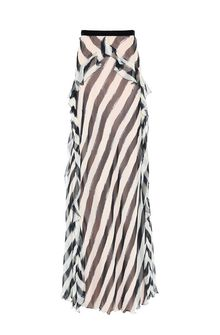 ALBERTA FERRETTI Long striped skirt SKIRT Woman e