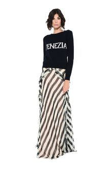 ALBERTA FERRETTI Long striped skirt SKIRT Woman f