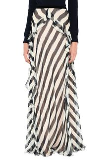 ALBERTA FERRETTI Long striped skirt SKIRT D r