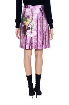 ALBERTA FERRETTI Knee-length floral skirt SKIRT Woman d