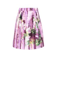 ALBERTA FERRETTI Knee-length floral skirt SKIRT Woman e
