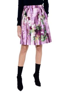 ALBERTA FERRETTI Knee-length floral skirt SKIRT Woman r