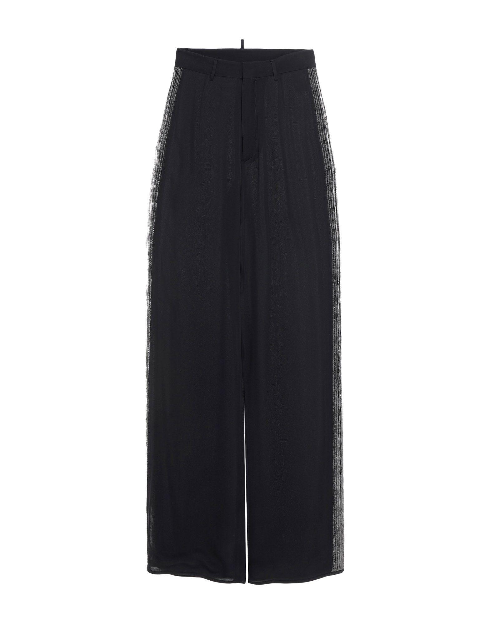 DSQUARED2 Повседневные брюки брюки широкие из однотонного жаккарда