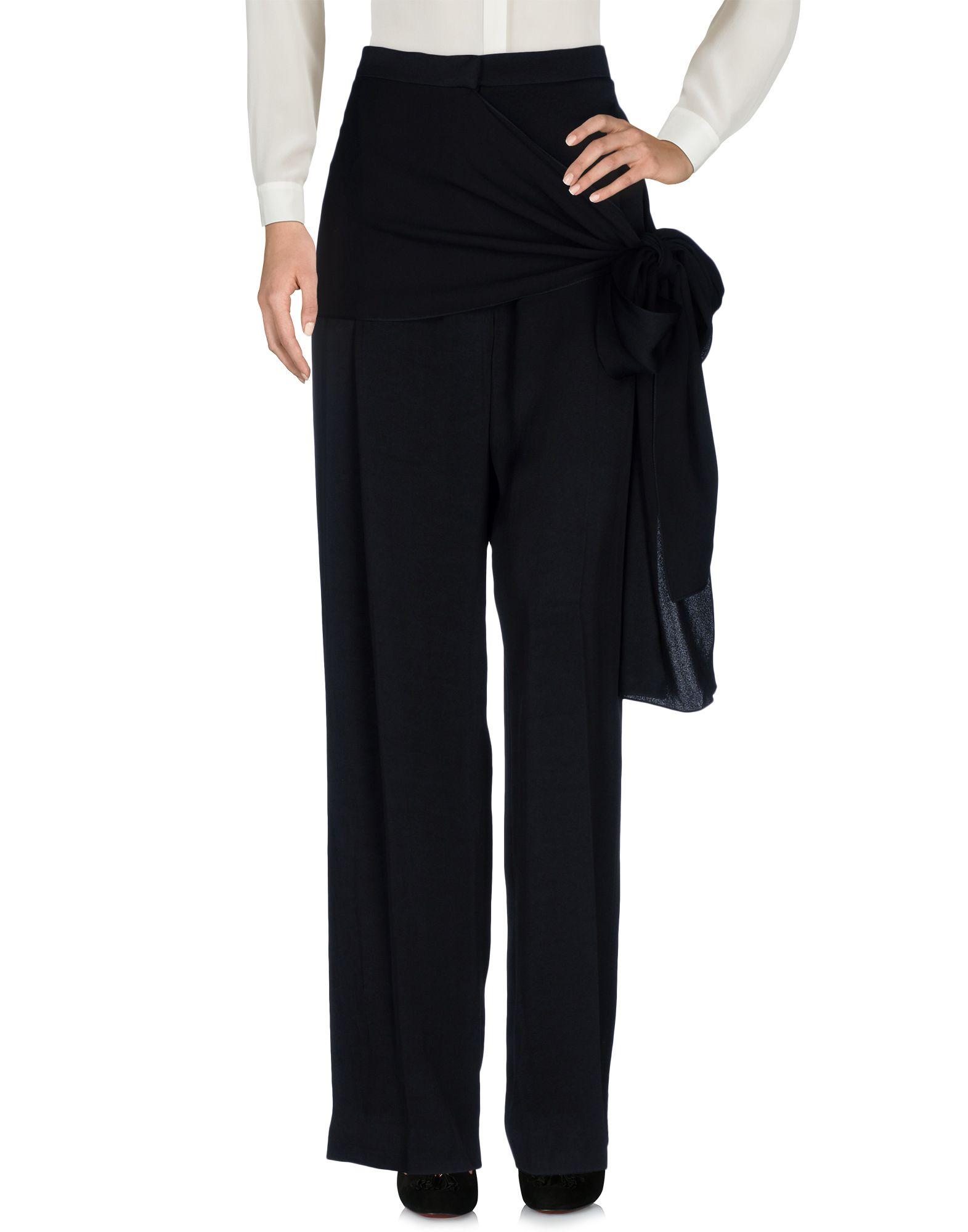 LANVIN Damen Hose Farbe Schwarz Größe 6