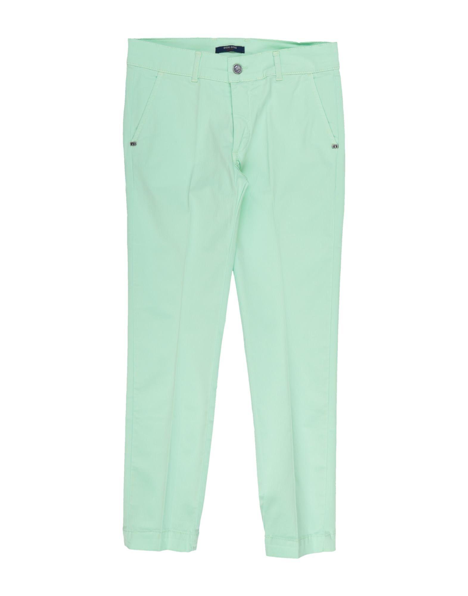 Entre Amis Garçon Kids' Casual Pants In Light Green