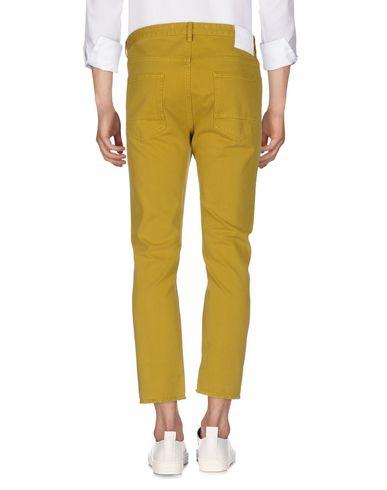 Фото 2 - Джинсовые брюки цвет охра